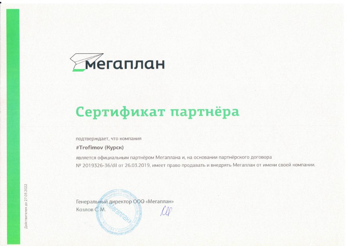 Сертификат Трофимов 11